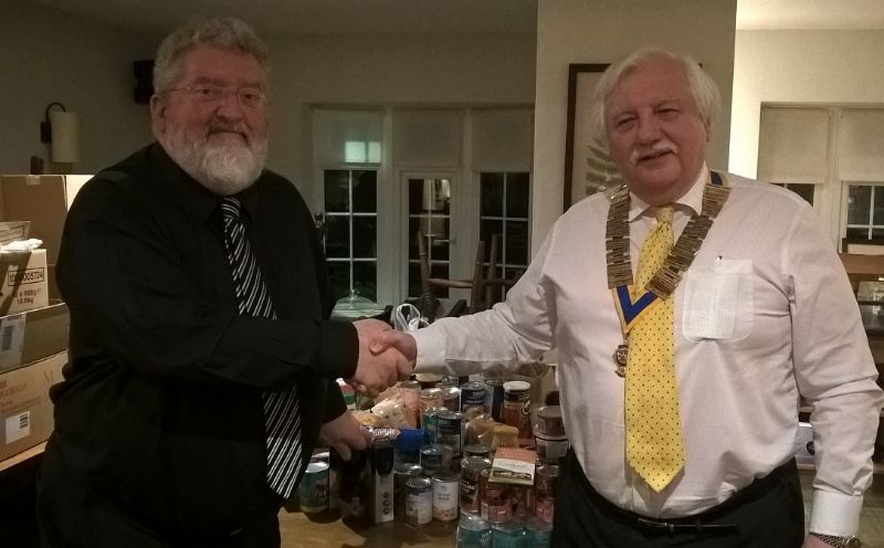 Neal Mellon; Isle of Man Foodbank receives donation