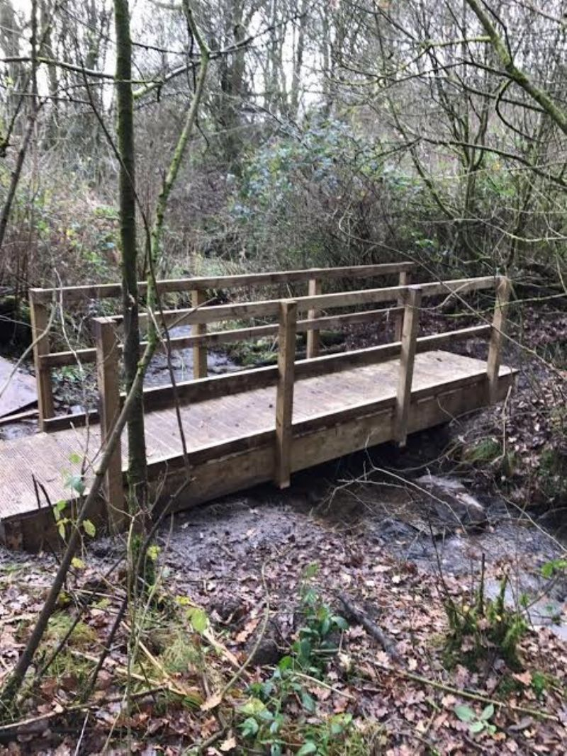New Bridge at Giants Seat on the Bolton Rotary Way